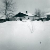 Image of 1967 Snowstorm - This is a photograph of the 1967 Snowstorm which blanketed the Chicago area, including Oak Lawn, with several feet of snow.  It was taken from 8736 South Sproat Avenue and features a neighbor's (Hois's) house.