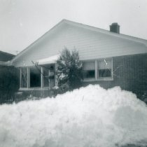 Image of 1967 Snowstorm - This is a photograph of the 1967 Snowstorm which blanketed the Chicago area, including Oak Lawn, with several feet of snow.  It features the home located at 8736 South Sproat Avenue.