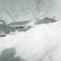 Image of 1967 Snowstorm - This is a photograph of the 1967 Snowstorm which blanketed the Chicago area, including Oak Lawn, with several feet of snow.  It was taken at 8736 South Sproat Avenue the day after the blizzard.