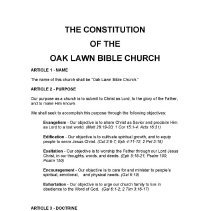 Image of Oak Lawn Bible Church Constitution