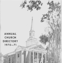 Image of Annual Church Directory, 1970 - 1971 - Membership directory for Pilgrim Faith United Church of Christ for the year 1970.  Includes church staff and officers of various boards and organizations.