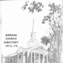 Image of Annual Church Directory, 1973 - 1974 - Membership directory for Pilgrim Faith United Church of Christ for the year 1973.  Includes church staff and officers of various boards and organizations.