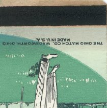 Image of Hickory Hills Golf Club Matchbook - This item is a matchbook from Hickory Hills Golf Club located at 8201 West 95th Street in Oak Lawn.  The cover is green in color and features an image of a golfer.  Although the club is in present day Hickory Hills, it was once considered the greater Oak Lawn area.