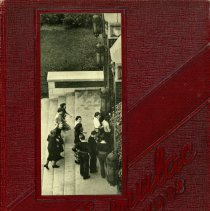 "Image of Calumet High School Yearbook, Temulac, 1938 - This item is a 1938 ""Temulac"" yearbook from Calumet High School in Chicago Illinois.  The cover is red with a photo of students.  Prior to the opening of the Oak Lawn High Schools, some local residents attended Calumet High."