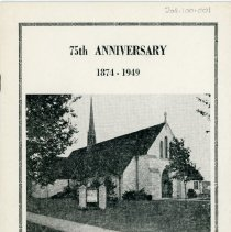 Image of Program for the Trinity Evangelical Lutheran Church 75th Anniversary