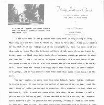 Image of Trinity Ev. Lutheran Church History, 1970