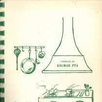 Image of Kolmar's Kitchens - Cookbook compiled by the Kolmar P.T.A. from the Kolmar Elementary School of Oak Lawn-Hometown School District 123.  Green and white cover.