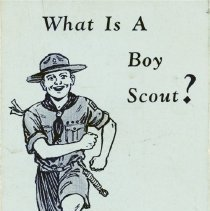 """Image of What Is a Boy Scout? - Pamphlet entitled """"What Is a Boy Scout"""".  Published in 1936."""