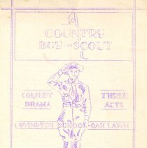 Image of A Country Boy Scout, 1939 - Handout provided to attendees of a three-act play put on by Boy Scout Troop 682 on May 26, 1939.