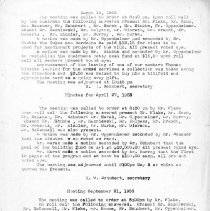 Image of Grandview Boys' Club Minutes, 1953-1955