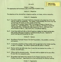 Image of Lynwood Womens Club Bylaws
