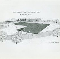 Image of Artist's Rendering of Southwest Park Swiming Pool