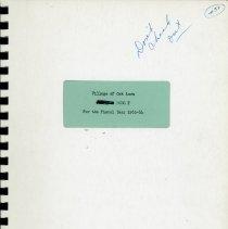 Image of Proposed Village Budget, 1963-1964