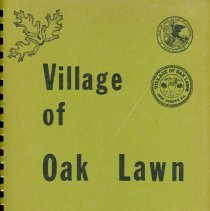 Image of Adopted Village Budget, 1972 - This item is the adopted 1972 budget for the Village of Oak Lawn.  The document is 120 pages long, has multi-colored paper, and a green cover.