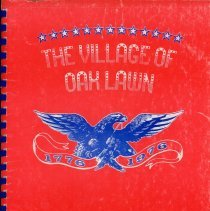 Image of Adopted Village Budget, 1976 - This item is the adopted 1976 budget for the Village of Oak Lawn.  The document is 121 pages long, has multi-colored paper, and a red cover.