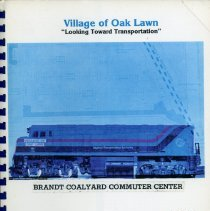 Image of Adopted Village Budget, 1980 - This item is the adopted 1980 budget for the Village of Oak Lawn.  The document is 139 pages long, has multi-colored paper, and features a train on the cover.