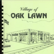 Image of Adopted Village Budget, 1986 - This item is the adopted 1986 budget for the Village of Oak Lawn.  The document  is 158 pages long, has plain white paper, and a green cover featuring the train station.