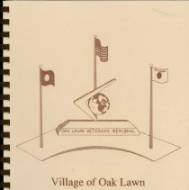 Image of Adopted Village Budget, 1990 - This item is the adopted 1990 budget for the Village of Oak Lawn.  The document is 154 pages long, has plain white paper, and a brown cover featuring a proposed Veteran's Memorial.