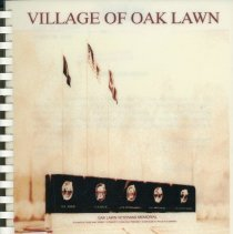 Image of Adopted Village Budget, 1996 - This item is the adopted 1996 budget for the Village of Oak Lawn.  The document is 182 pages long, has plain white paper, and a drawing of the Veteran's Memorial on the front.