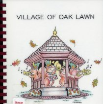 Image of Adopted Village Budget, 1998 - This item is the adopted 1998 budget for the Village of Oak Lawn. The document is 151 pages long, has plain white paper, and a drawing of a gazebo on the front.