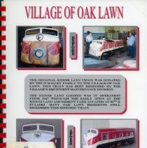 Image of Adopted Village Budget, 2003 - This item is the adopted 2003 budget for the Village of Oak Lawn. The document is 236 pages long, has plain white paper, and several pictures of the Kiddieland Train on the cover.