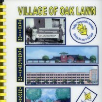 Image of Adopted Village Budget, 2005 - This item is the adopted 2005 budget for the Village of Oak Lawn. The document is 239 pages long, has plain white paper, and architectural drawings of the Oak Lawn re-development on the cover.
