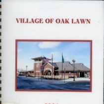 Image of Adopted Village Budget, 2006 - This item is the adopted 2006 budget for the Village of Oak Lawn. The document is 239 pages long, has plain white paper, and a picture of the Oak Lawn Train Station on the cover.