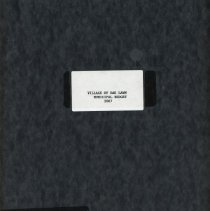 Image of Adopted Village Budget, 2007 - This item is the adopted 2007 budget for the Village of Oak Lawn. The document is 127 pages long, has plain white paper, and a black cover.