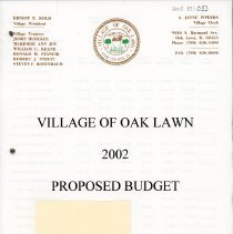 Image of Proposed Village Budget, 2002