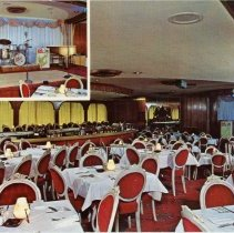 Image of Bill Bard's Imperial West Restaurant Postcard - This item is a postcard of Bill Bard's Imperial West Restaurant located in the Arena Shopping Center at 103rd Street and Cicero Avenue in Oak Lawn.