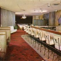Image of Jack Kilty's Restaurant Postcard - This item is a postcard from Jack Kilty's Restaurant located at 4545 West 95th Street. The front shows an interior image of the restaurant while the back has promotional information.
