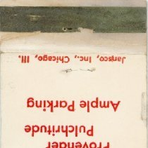 Image of Fox's Oak Lawn Pub Matchbook - This item is a matchbook for Fox's Oak Lawn Pub located at 9240 South Cicero Avenue.  It is red and white in color and features the image of an acorn.