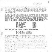 Image of Oak Lawn Public Library Minutes, 1943