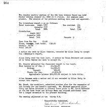 Image of Oak Lawn Public Library Board Minutes, 1962