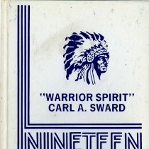 Image of Sward School Yearbook, 1982 - Carl A. Sward Elementary School yearbook for the year 1982.  White cover which includes a picture of a Native American.