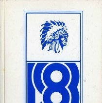 Image of Sward School Yearbook, 1983 - Carl A. Sward Elementary School yearbook for the year 1983.  White cover which includes a picture of a Native American.