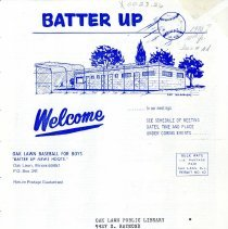 Image of Batter Up, 1970 - Newsletter of Oak Lawn Baseball for Boys for the year 1970.  Includes news items, announcements, rosters and advertisements.