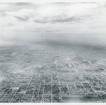 Image of Aerial Photograph of 103rd Street and Crawford Avenue - Aerial photograph looking west near the intersection of 103rd Street and Crawford (now Pulaski) Avenue in 1953.
