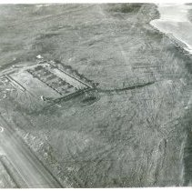 Image of Aerial Photograpgh of McKessen and Robbins - Aerial view of McKessen & Robbins property in 1953. The excavation of a foundation is taking place in the photograph.