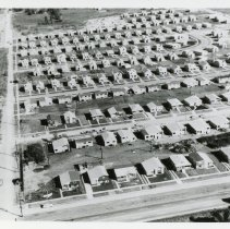 Image of Aerial Photograph of 111th Street and Kostner Ave - Aerial photograph of Jolly Homes, Leahy & Seagle at 111th Street & Kostner Avenue in 1957.