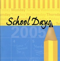 Image of St. Germaine Yearbook, 2005 - St. Germaine School yearbook for the year 2004-2005.  Blue and yellow cover includes an illustration of a large pencil.