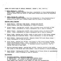 Image of Zoning Board of Appeals Minutes, 1961 - Minutes of the Oak Lawn Zoning Board of Appeals for the year 1961.
