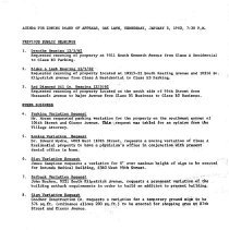 Image of Zoning Board of Appeals Minutes, 1962