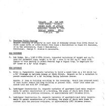 Image of Zoning Board of Appeals Minutes, 1964 - Minutes of the Oak Lawn Zoning Board of Appeals for the year 1964.