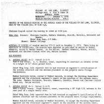 Image of Appeals Board Minutes, 1976