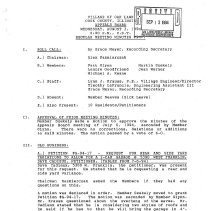Image of Appeals Board Minutes, 1994 - Minutes of the Oak Lawn Appeals Board for the year 1994.