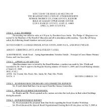 Image of Atwood Heights School District 125 Board of Education Minutes, 2008-2009 - Minutes of the Atwood Heights School District 125 Board of Education for the school year 2008-09.