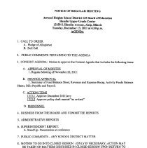 Image of Atwood Heights School District 125 Board of Education Board Packets, 2011-2012 - Board packets of the Atwood Heights School District 125 Board of Education for the school year 2011-12.  Includes agendas, minutes, financial reports, administrative reports, etc.