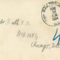 Image of Babe Ruth Envelope
