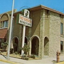 Image of Pat Hayden Realtors Postcard - This item is a postcard from Pat Hayden Realtors located at 5700 West 95th Street.  The front has a picture of the realty office while the back contains promotional information.